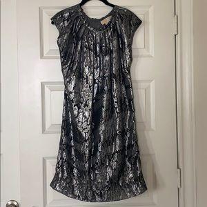 Micheal Kors metallic shift mini dress